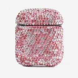Air Pod Case In Pink Diamante