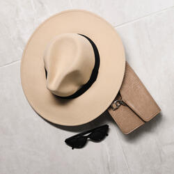Fedora Hat In Nude Felt