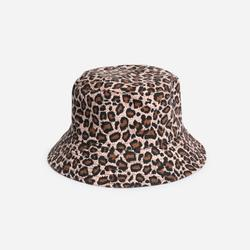 Bucket Hat In Leaoprd Print