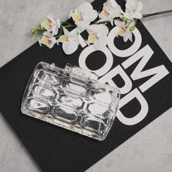 Textured Clear Perspex Bag In Clear