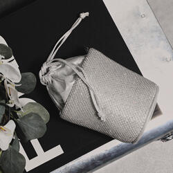 Bucket Bag In Silver Diamante