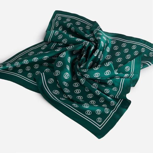 Multi Pattern Bandana Scarf In Green