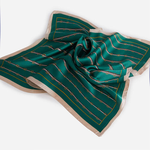 Stripe Detail Bandana Scarf In Green