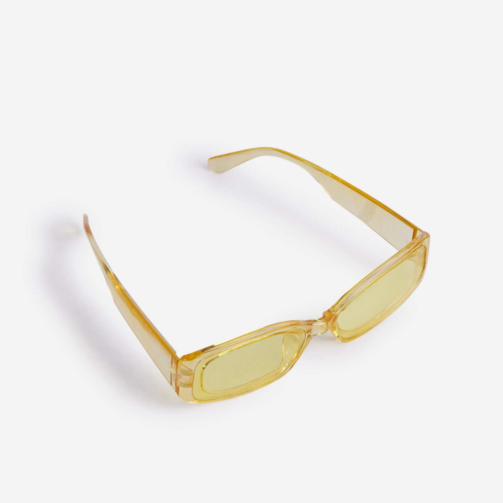 Rectangle Sunglasses In Yellow