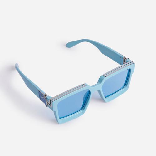 Oversized Square Sunglasses In Blue