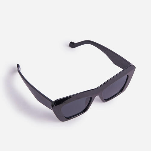 Thick Frame Pointed Sunglasses In Black