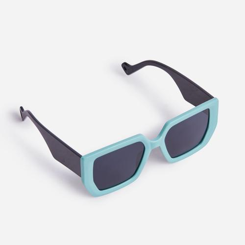 Oversized Shaped Sunglasses In Blue