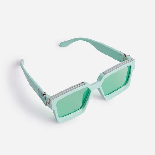 Oversized Square Sunglasses In Green