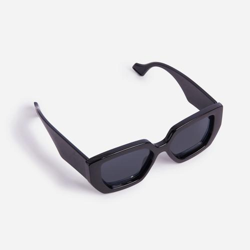 Oversized Hexagon Sunglasses In Black