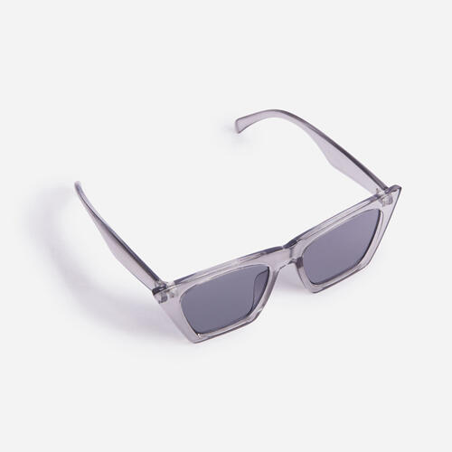 Square Sunglasses In Clear