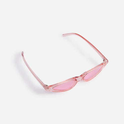 Small Pointed Cat Eye Sunglasses In Pink