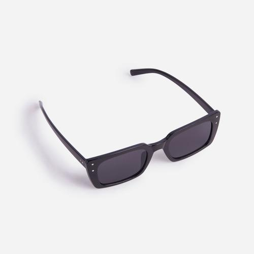 Square Retro Sunglasses In Black