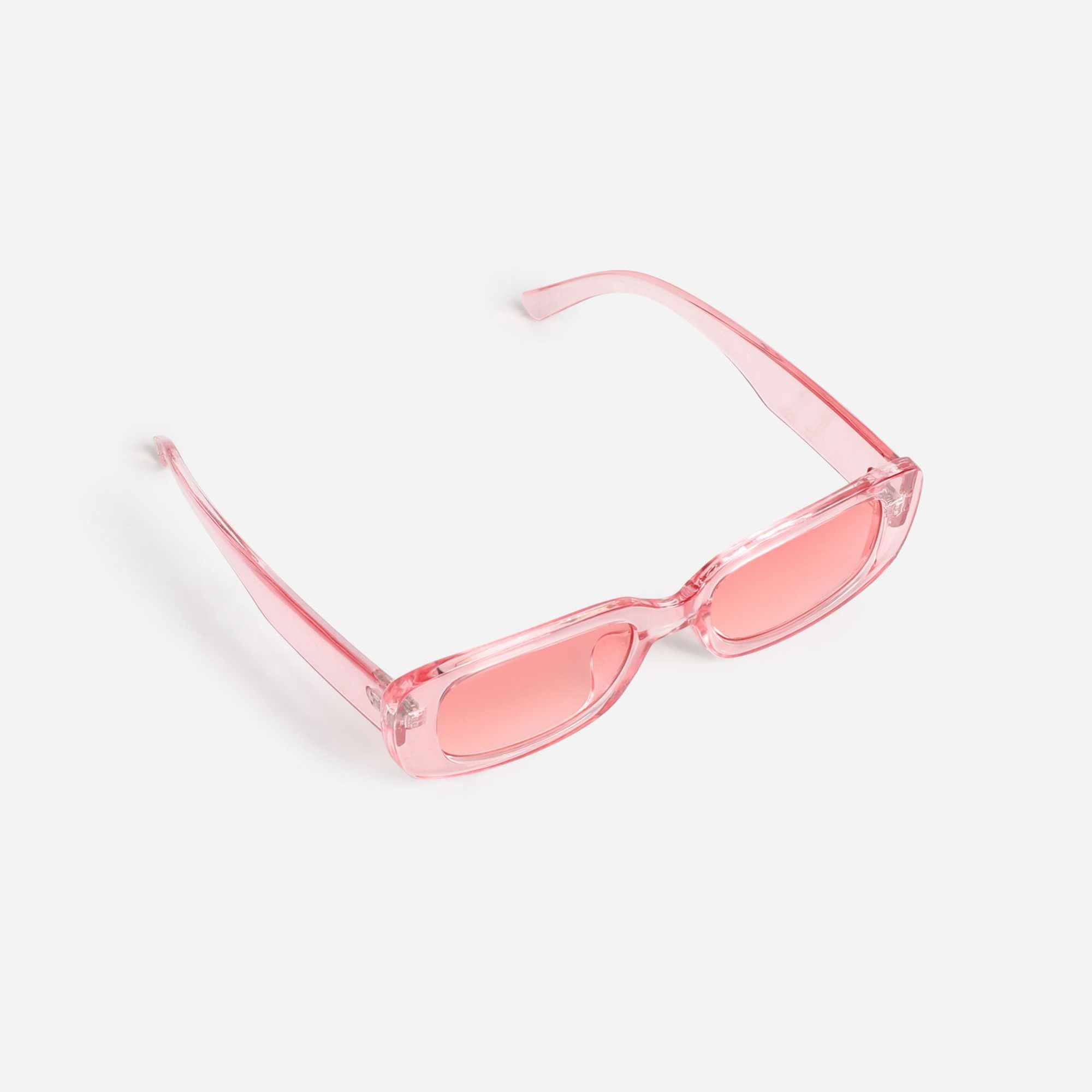Slim Square Sunglasses In Pink