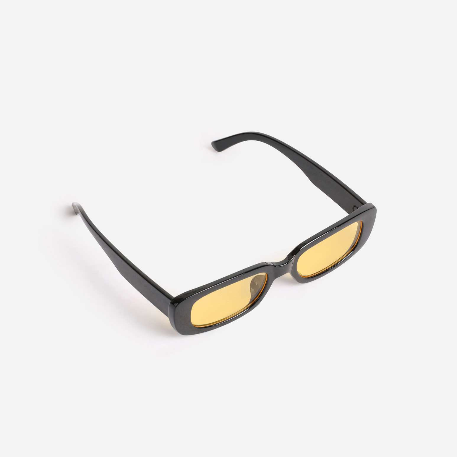 Slim Square Sunglasses In Yellow