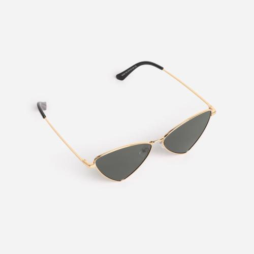 Triangle Shaped Sunglasses In Black