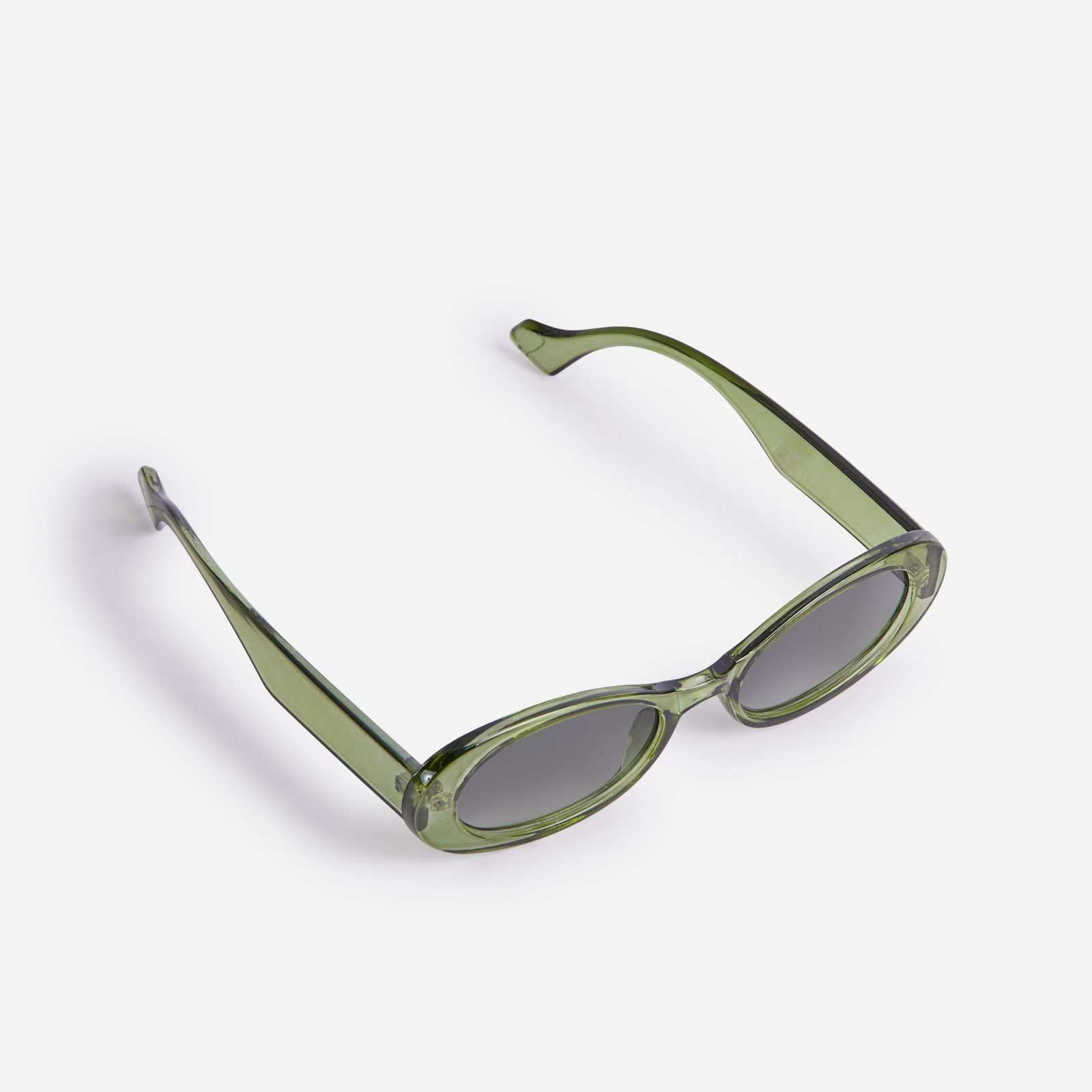 Oval Sunglasses In Green