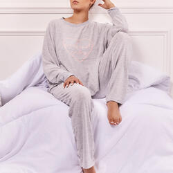 Weekend Vibe Pyjama Set In Grey Knit