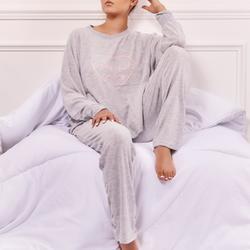 Weekend Vibe Pyjama Set In Grey Knit