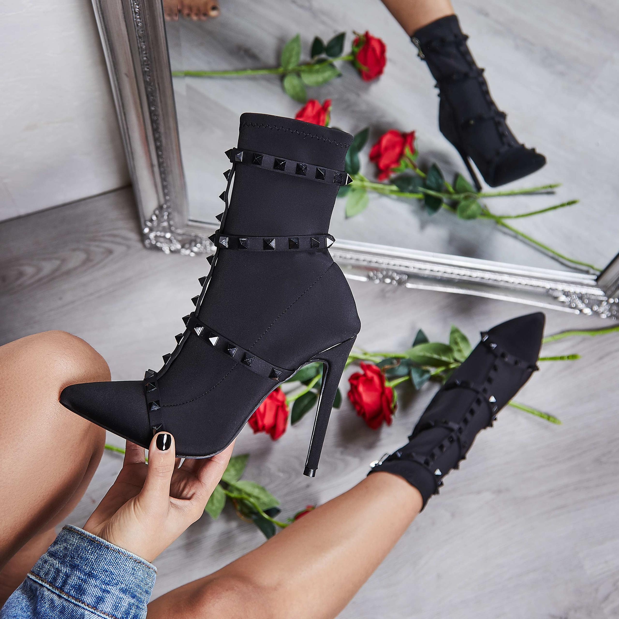 axel studded sock boot