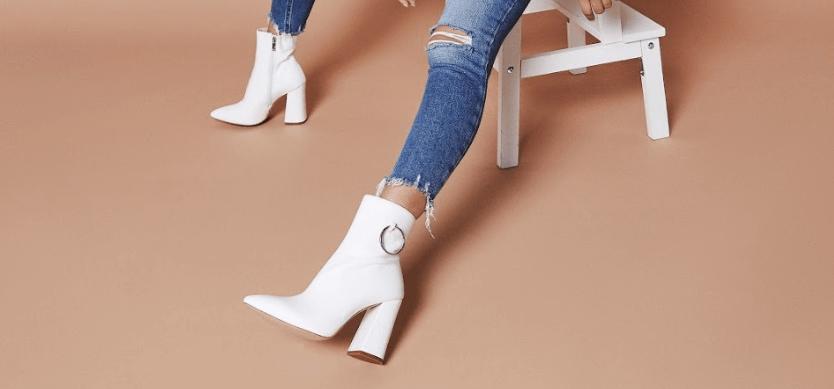 Ruben White Ankle Boots