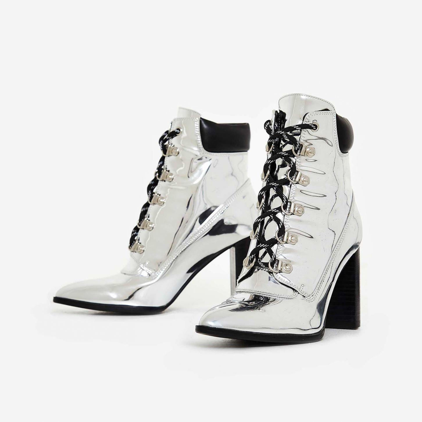 Kenny Metallic Lace Up Boot
