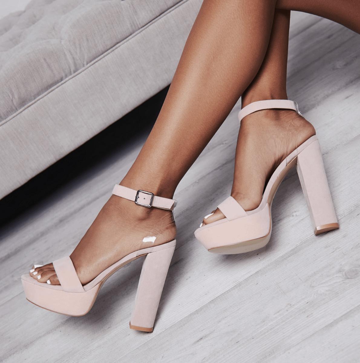 Cherry Pink Perspex Platform Heel