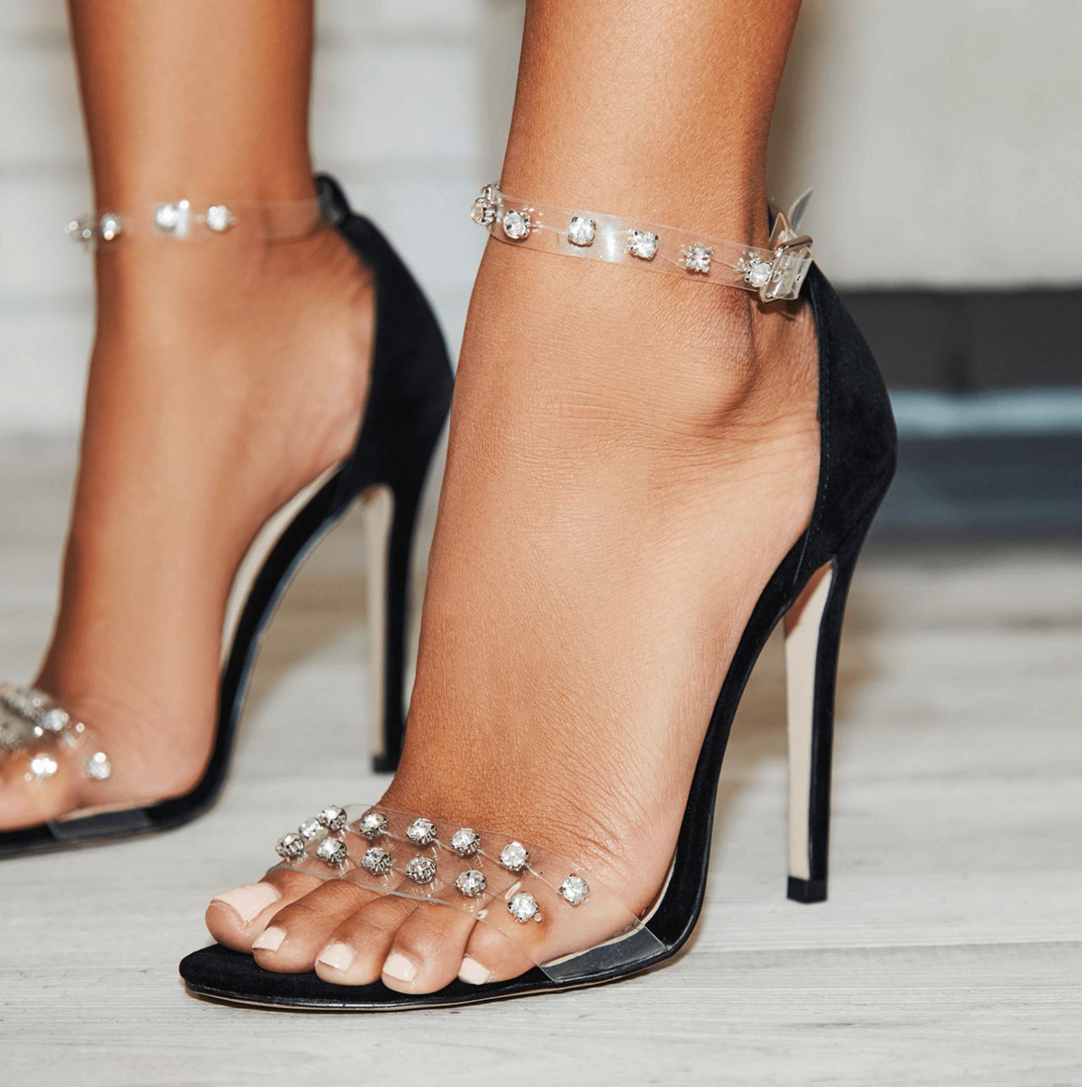 Leonie Perspex Embellished Heel