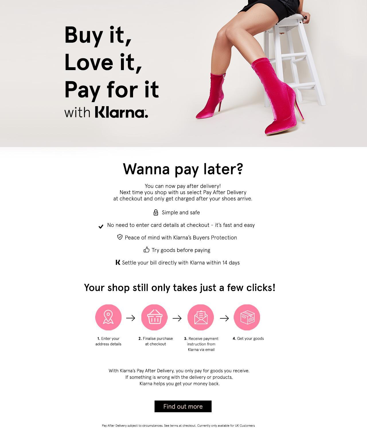 Klarna Buy Now Pay Later Ego