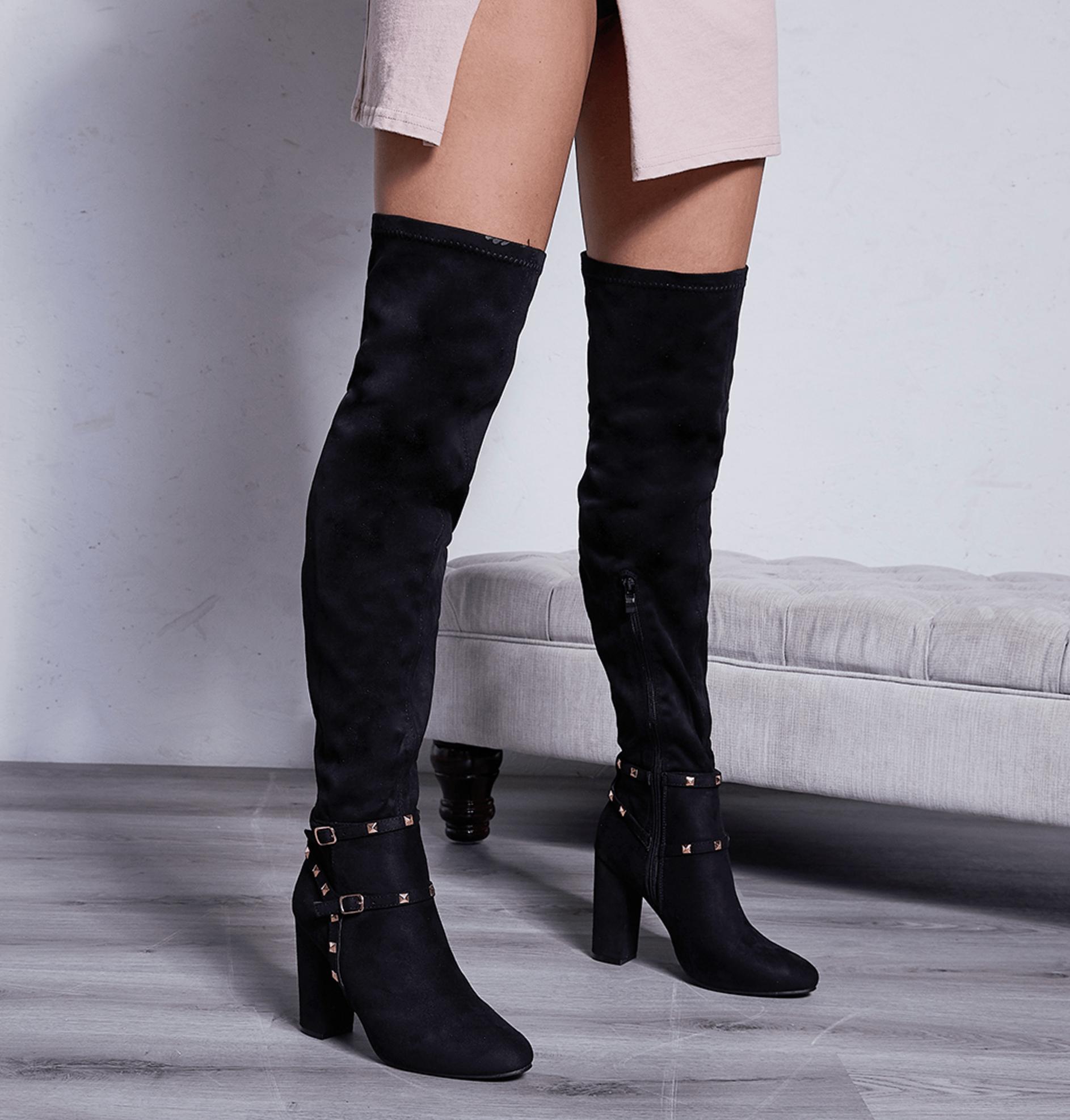 Nexus Block Heel Long Boots